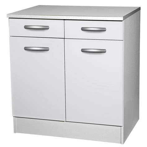meuble bas ikea cuisine meuble de cuisine bas 2 portes 2 tiroirs blanc h86x