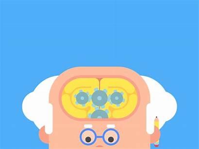 Dribbble James Gifs Animated Thinking Curran Idea