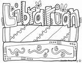 Coloring Library Librarian Classroomdoodles Printable Community Sheets Guardado Desde sketch template
