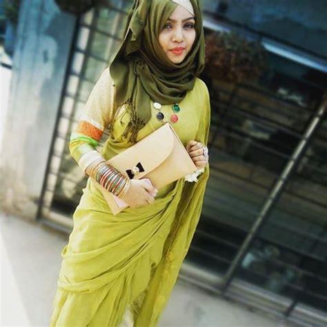 pin  jasmin beegum  hijab  saree saree