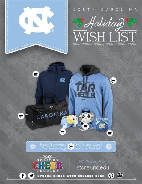 unc colors unc wish list by college colors carolina