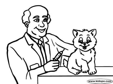 veterinarian  coloring page