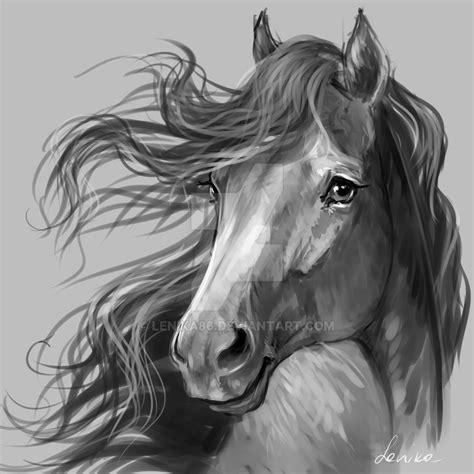 horse portrait   lenika  deviantart