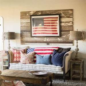 17 best images about americana on pinterest the buffalo With best brand of paint for kitchen cabinets with rustic american flag wall art
