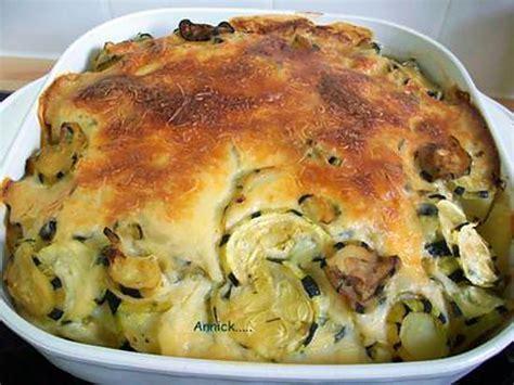 recette de gratin pommes de terre courgettes