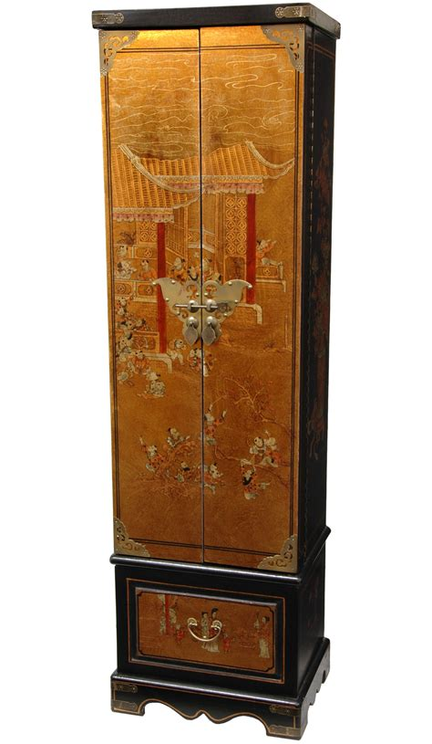 Japanese Armoire furniture lacquer jewelry armoire with