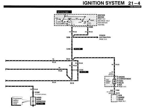 Wiring Harnes 94 Ford Ranger by 1994 Ford Ranger I Locate A Diagram For The Electrical