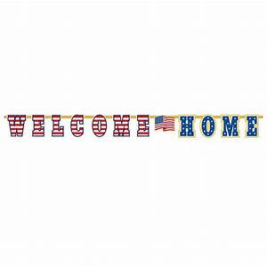 amscan 125 in x 11 ft welcome home letter banner 2 With ft letters