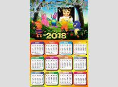 Calendário 2018 Os Backyardigans no Jardim Montagem para