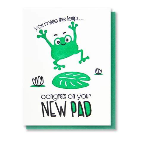 funny  house letterpress card housewarming  pad