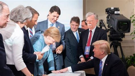 Ms merkel, who appeared to have inadvertently left her microphone on, could be heard talking as the prime minister was making his. Trump annuncia: G7 solo in videoconferenza