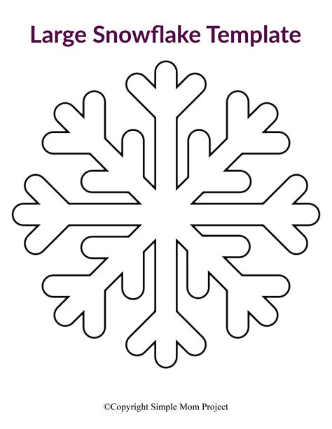 printable large snowflake templates  images