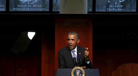 President Obama Praises Muslims During Mosque Visit