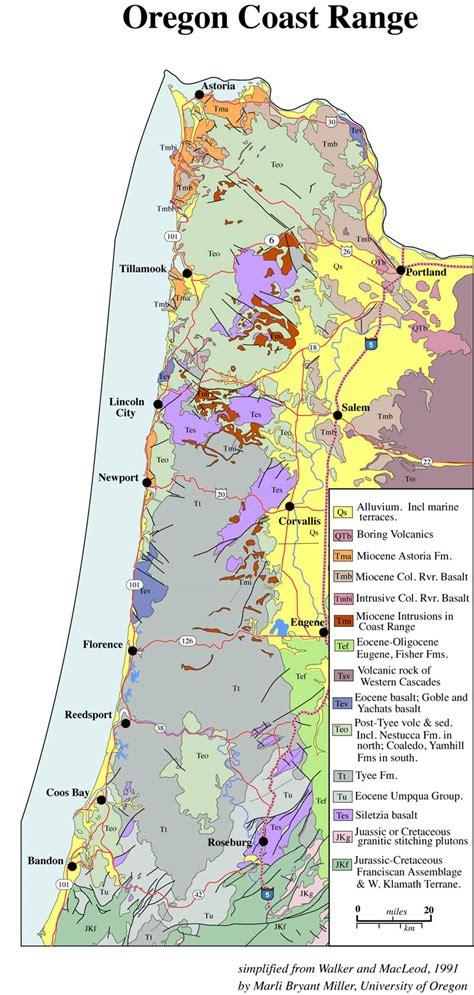 geologic map, oregon, Coast Range, geology, Siletz Terrane ...