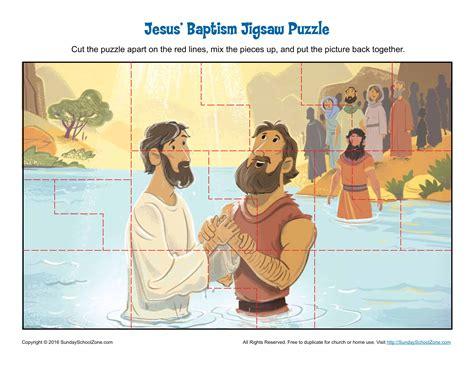 jesus baptism jigsaw puzzle childrens bible activities sunday school activities  kids