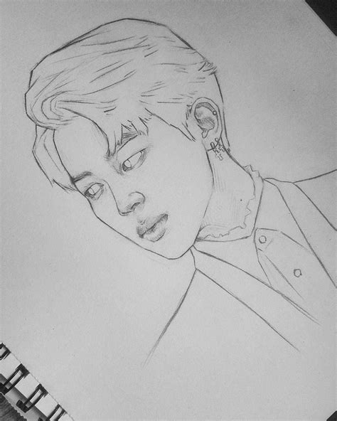 pin  sahare ail  fanarts kpop drawings bts drawings