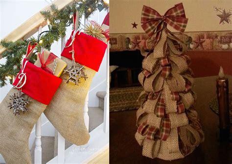 decorating for christmas with burlap 21 burlap christmas decorations ideas to try this christmas feed inspiration