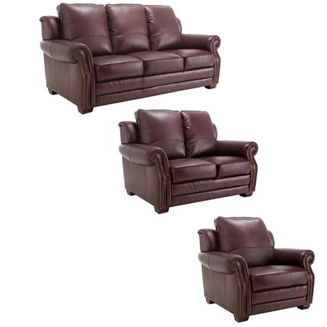 burgundy leather sofa and loveseat westport burgundy italian leather sofa loveseat and chair