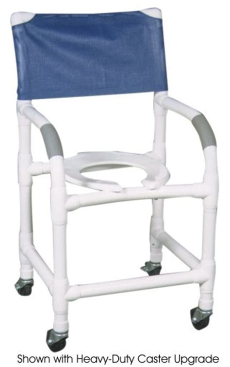18 pvc shower commode chair standard 3