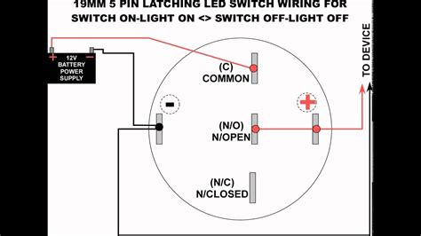 Led Switch Wiring Diagram by 19mm Led Latching Switch Wiring Diagram