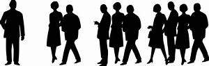 Clipart - People Silhouettes - 60s Crowd