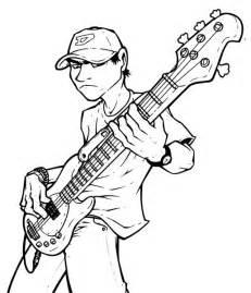 Bass Guitar Player Cartoon