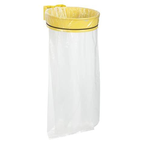 poubelle avec sac transprent pour poteau