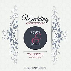 Ornamental wedding invitation Vector | Free Download