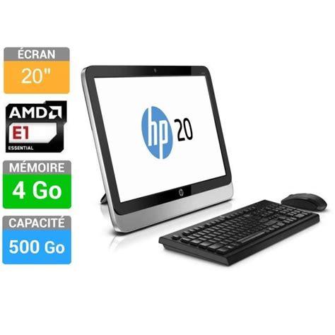 ordinateur de bureau tout en un hp pc tout en un 20 2210nf prix pas cher cdiscount