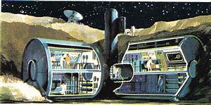 Future Moon Base - Pics about space