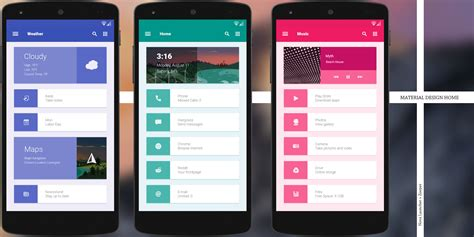functional material design home androidthemes