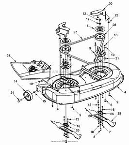 Mtd 13ah451f352  1997  Parts Diagram For Deck Assembly