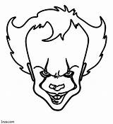 Pennywise Coloring Pages Movies Printable sketch template