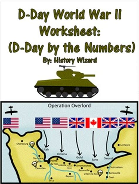 d day world war ii worksheet d day by the numbers by