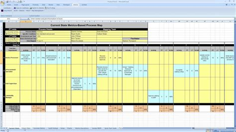 metrics based process mapping excel tool product demo