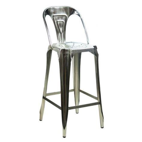 chaise bar industriel tabouret de bar avec dossier en acier style industriel