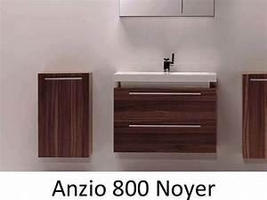 meuble salle de bain noyer obasinccom With meuble salle de bain largeur 80 cm