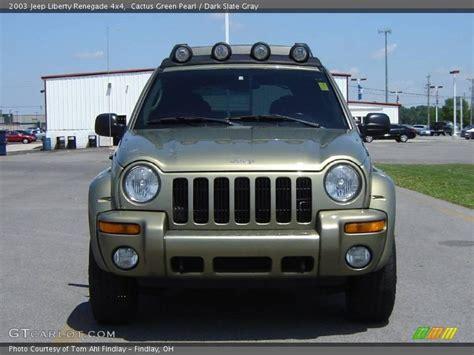 2003 green jeep liberty 2003 jeep liberty renegade 4x4 in cactus green pearl photo