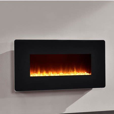 altra kenna  wall mounted electric fireplace black