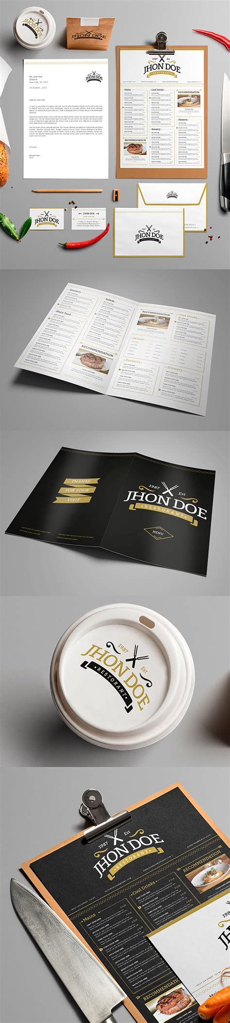 Elegant Brand Identity Pack Graphicsfuel