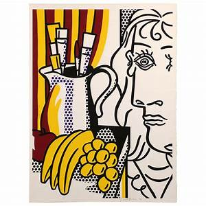 Screenprint By Roy Lichtenstein Still Life With Picasso At