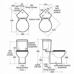 Ideal Standard Space Close Coupled Toilet With Corner Push