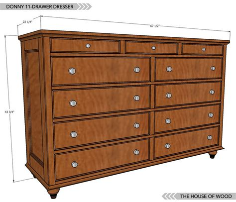 drawer dresser plans woodworking furniture plans diy