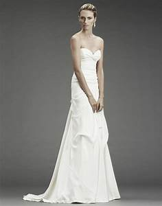 chic and simple a line white wedding dress with sweetheart With nicole miller wedding dresses