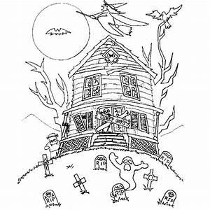 Dessin Citrouille Facile : coloriage halloween maison hant e colorier ~ Melissatoandfro.com Idées de Décoration