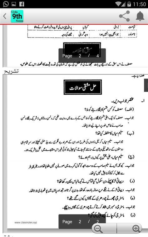 classnotes class notes xyz class  urdu