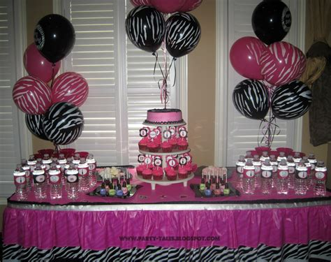 party tales birthday party zebra print and hot pink