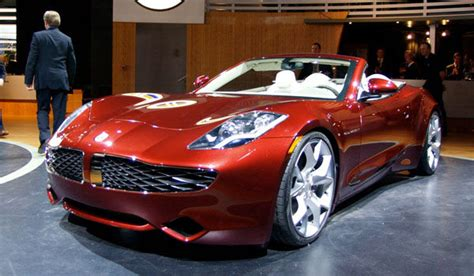 fisker electric car  beautiful vehicle
