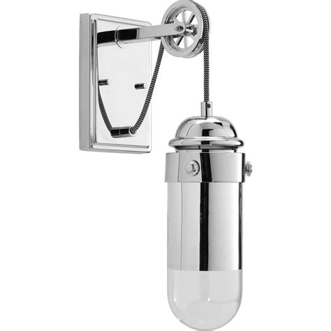 progress lighting beaker collection 9 watt polished chrome integrated led wall sconce with clear