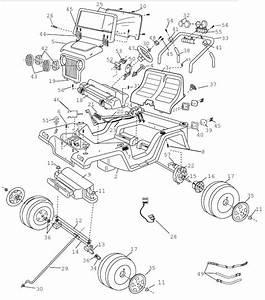 Power Wheels Tru Blue Jeep Wrangler Parts